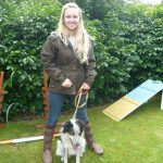 Vet Emily Gregson and Pann, a dog she and her family are fostering