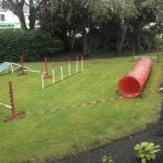 "The fantastic ""have-a-go"" agility course kindly provided by Dogs Trust"