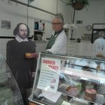 Willy visited Burchall's in Westfield Street. John Burchall has always been a wonderful supporter of the Smithy, and donates pies to be sold at our annual events.