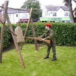 Aaron taking on the assault course