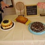 Three tasty entries to the inaugural Great Eccleston Bake-off: Lemonberrylicious cake, Traditional Lemon Drizzle, and Cheeky Chocolate Cake. Trophies and Lakeland vouchers were awarded as prizes to the winner and runner-up