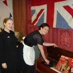 Curators Vicky and Joanne getting into the swing of 1951 celebrating the Festival of Britain.