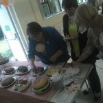 The lovely ladies of St Helens W.I. judging the 2015 Great Eccleston Bake-off entries