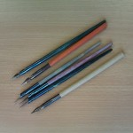 Dip Pens - so-called because you had to dip the nibs into ink, and you would only be able to write a few words at a time.