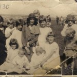 """Field Day, Eccleston 1930. This """"Field Day"""" was held on the fields off Millbrook Lane. Alder Hey Road is just visible in the background - there were just open fields between the two roads"""