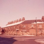 The old stone cottages that stood on the corner of St Helens Road and Burrows Lane, taken in January 1959